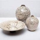 White crackle pots